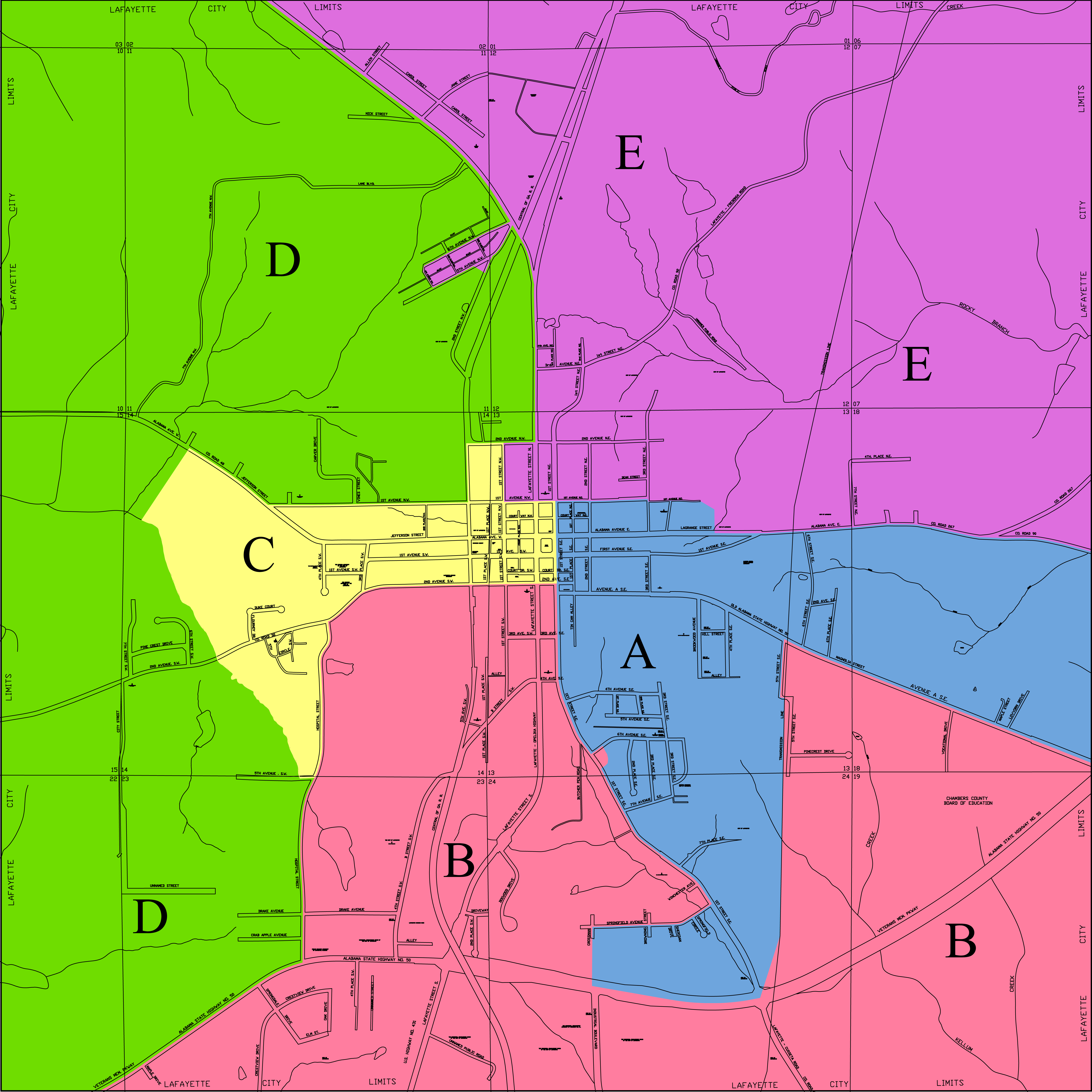 LaFayette Council District Map